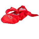 tanie Baletki-Baletki Tkanina Płaskie Kryształ górski Płaski obcas Brak możliwości personalizacji Buty do tańca Czerwony / w pomieszczeniach