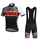 cheap Cycling Jersey & Shorts / Pants Sets-Miloto Men's Short Sleeve Cycling Jersey with Bib Shorts Bike Shorts Bib Shorts Jersey Breathable 3D Pad Quick Dry Reflective Strips Sweat-wicking Sports Polyester Silicon Geometry Mountain Bike MTB