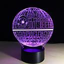 abordables Lámparas de Noche-1 pieza Luz nocturna 3D Control remoto / Color variable / Tamaño Pequeño Artístico / LED / Moderno / Contemporáneo