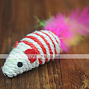 cheap Dog Toys-Teaser / Feather Toy Mouse Textile For Cat Toy