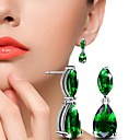 cheap Earrings-Crystal / AAA Cubic Zirconia Drop Earrings / Ball Earrings - Cubic Zirconia Silver / Green For Wedding / Party / Daily