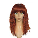 billige Syntetiske parykker uten hette-Syntetiske parykker Kinky Curly Syntetisk hår Brun Parykk Lokkløs Rødbrun