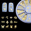 billige Negle Sticker-1SET Nail Art Kit Negle kunst Manicure Pedicure Daglig Metallic / Mode