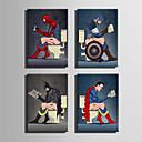 abordables Impresiones-lienzo conjunto Caricatura Retratos Abstractos Modern,Un Panel Lienzos Horizontal lámina Decoración de pared For Decoración hogareña