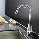 billige Brudesjaler-Kjøkken Kran - Enkelt Håndtak Et Hull Rustfritt Stål standard Tut Bolleservant Moderne / Antikk / Art Deco / Retro Kitchen Taps