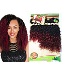 cheap Human Hair Weaves-8 14inch 8 pcs lot brazilian deep curly ombre burgundy color virgin hair brazilian virgin hair kinky curly hair weave bundles cheap human hair