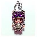 رخيصةأون سلسلة المفتاح-مفتاح سلسلة ألماسي كريستال 1pcs كرتون محبوب للأطفال فتيات صبيان هدية