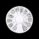 cheap Rhinestone & Decorations-1 pcs Rhinestones Cute / Multi-shade / Sparkling nail art Manicure Pedicure Daily Metallic / Fashion / Lovely