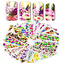 cheap Other Nail Tools-1set 48pcs mixed full cover wrap nail art watermark sticker beautiful flower image design water transfer decals nail set decoration a49 96