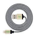 ieftine Cabluri & Încărcător-Iluminare Cablu / Cablu Încărcător / Date & Sincronizare Împletit Cablu  iPad / Apple / iPhone pentru 300 cm Pentru Nailon
