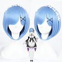 abordables Déguisements de Manga-Perruque Synthétique / Perruques de Déguisement Droit Coupe Carré / Avec Frange Cheveux Synthétiques Bleu Perruque Femme Court / Moyen Sans bonnet Bleu