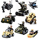 cheap Building Blocks-Sluban Building Blocks Military Blocks Construction Set Toys 928 pcs Military Tank Soldier compatible Legoing Creative Cool Classic & Timeless Chic & Modern Cartoon Boys' Girls' Toy Gift