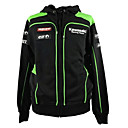baratos Luvas de Motociclista-kawasaki motorsport racing hoodie jacket black / green color mens biker sweatshirt
