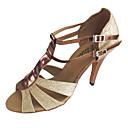 cheap Historical & Vintage Costumes-Women's Latin Sandals Double Straps Salsa Dance Shoes Customizable