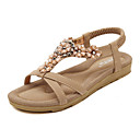 povoljno Ženske sandale-Žene Sandale Ravna potpetica Elastika PU Udobne cipele / Inovativne cipele Hodanje Proljeće / Ljeto Crn / Badem / Dusty Rose