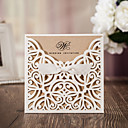 cheap Wedding Invitations-Flat Card Wedding Invitations 50 - Invitation Cards Artistic Style Vintage Style Floral Style Card Paper Ribbons