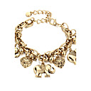 cheap Bracelets-Chain Bracelet - Heart Fashion Bracelet Gold / Silver For Gift