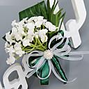 preiswerte Hochzeitsblumen-Hochzeitsblumen Sträuße Knopflochblumen Anderen Künstliche Blumen Hochzeit Party / Abend Material Spitze Polyester Seide Organza Satin