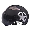 preiswerte Motorradhelme-gxt m11 Motorradhalbschalenhelm Dual-Lens-harley Sonnenschutz Helm Sommer Unisex geeignet für 55-61cm mit Linse kurzer Tee Spiegel