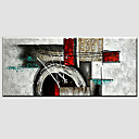 cheap Abstract Paintings-Oil Painting Hand Painted - Abstract Modern Canvas / Stretched Canvas