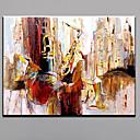tanie Pejzaże-Hang-Malowane obraz olejny Ręcznie malowane - Abstrakcja Nowoczesny / Fason europejski Płótno / Rozciągnięte płótno