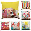 """baratos Almofadas de Decoração-conjunto de 6 padrões coloridos de graffiti lençóis de escritório caseiro cadeiras de travesseiro decorativas quadradas (18 """"* 18"""")"""