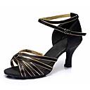 preiswerte Latein Schuhe-Damen Schuhe für den lateinamerikanischen Tanz Kunstleder Sandalen / Absätze Schnalle Kubanischer Absatz Maßfertigung Tanzschuhe Schwarz