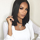 cheap Synthetic Capless Wigs-black color middle length straight hair european synthetic wigs