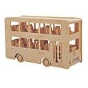 billige Smartklokker-Byggeklosser / 3D-puslespill / Puslespill Buss / To-etasjes-buss profesjonelt nivå / GDS Tre 1 pcs Barne Gave