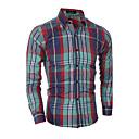 abordables Adhesivos de Pared-Hombre Estampado - Algodón Camisa Un Color