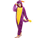 cheap Kigurumi Pajamas-Adults' Cosplay Costume Kigurumi Pajamas Dragon Onesie Pajamas Flannel Toison Purple Cosplay For Men and Women Animal Sleepwear Cartoon Festival / Holiday Costumes
