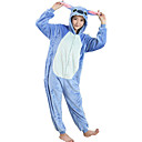 cheap Kigurumi Pajamas-Adults' Kigurumi Pajamas Cartoon Blue Monster Onesie Pajamas Flannel Toison Blue Cosplay For Men and Women Animal Sleepwear Cartoon Halloween Festival / Holiday