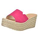 baratos Sandálias Femininas-Mulheres Sapatos Couro Ecológico Verão Creepers Sandálias Salto Plataforma Dedo Aberto para Casual Preto Fúcsia Verde