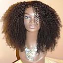 povoljno Perike s ljudskom kosom-Ljudska kosa Perika pune čipke bez ljepila Full Lace Perika stil Kinky Curly Perika 130% Gustoća kose Prirodna linija za kosu Afro-američka perika 100% rađeno rukom Žene Kratko Srednja dužina Dug