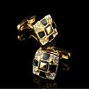 cheap Men's Accessories-Geometric Golden Cufflinks Copper Classic / Gift Boxes & Bags / Fashion Men's Costume Jewelry For Party / Business / Ceremony / Wedding