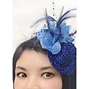 baratos Acessórios de Cabelo-Tule / Pena / Rede Fascinadores / Chapéus / Decoração de Cabelo com Floral 1pç Casamento / Ocasião Especial / Casual Capacete