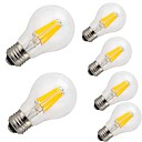 cheap LED Filament Bulbs-6pcs 9W 1100lm E26 / E27 LED Filament Bulbs A60(A19) 12 LED Beads COB Decorative Warm White Cold White 220-240V