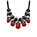 preiswerte Modische Halsketten-Damen Kristall Statement Ketten - Krystall, Harz, Strass nette Art, Euramerican Rot Modische Halsketten Für Hochzeit, Party, Besondere Anlässe
