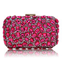 cheap Wedding Wraps-Women's Bags Polyester Evening Bag Sequin / Crystal / Rhinestone Black / Silver / Fuchsia
