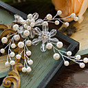 cheap Party Headpieces-Crystal / Imitation Pearl / Rhinestone Headwear / Hair Clip / Hair Tool with Floral 1pc Wedding / Special Occasion / Outdoor Headpiece