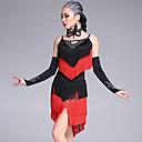 رخيصةأون صواني الخبز-الرقص اللاتيني أزياء للمرأة أداء فسكوزي شرابة بدون كم ارتفاع متوسط فستان / قفازات / Neckwear