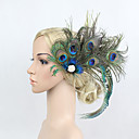 cheap Party Headpieces-Rhinestone / Feather / Alloy Flowers / Headwear / Hair Clip with Floral 1pc Special Occasion Headpiece