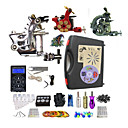 billige profesjonelle tatovering kits-BaseKey Tattoo Machine Profesjonell Tattoo Kit - 3 pcs tattoo maskiner LED strømforsyning Etui inkludert 1 x stål tatoveringsmaskin til lining og skyggelegging / 2 x legering tatovering maskin for