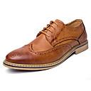 levne Kostýmová paruka-Pánské Obuv PU Léto / Podzim Bullock boty / Společenské boty Oxfordské Černá / Šedá / Hnědá / Party / Bullock Shoes