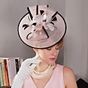 cheap Party Headpieces-Feather Fascinators / Hats / Headwear with Floral 1pc Wedding / Special Occasion / Outdoor Headpiece