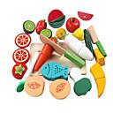 preiswerte Spielküchen & Spiellebensmittel-lowood Spielzeug-Küchen-Sets Spielessen Gemüse Magnetisch Kunststoff Mädchen Kinder Geschenk 17pcs