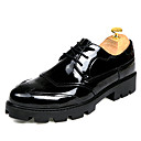 cheap Men's Oxfords-Men's Dress Shoes Leather Spring / Fall Comfort Oxfords Walking Shoes Black / Wedding / Party & Evening