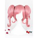 olcso Szintetikus parókák-Szintetikus parókák / Jelmez parókák Női Egyenes Pink Copf Szintetikus haj Pink Paróka Rövid Sapka nélküli Rózsaszín