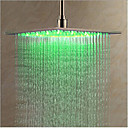 cheap LED Shower Heads-Contemporary Rain Shower Chrome Feature - LED, Shower Head