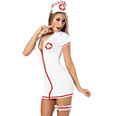 cheap Uniforms Accessories-Nurse Cosplay Costume Women's Halloween Carnival New Year Festival / Holiday Terylene Outfits Red and White Solid Colored